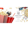 realistic cinema elements background vector image