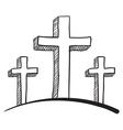 religious sketch vector image vector image