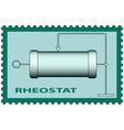 Rheostat on stamp vector image