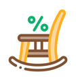 rocking chair icon outline vector image vector image
