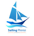 sailing phinisi vector image vector image