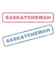 saskatchewan textile stamps vector image vector image