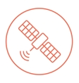 Satellite line icon vector image