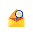 search magnifying glass in envelope mail vector image vector image