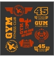 Set of sports and fitness logo Gym logotypes vector image
