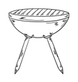 sketch of the grill vector image