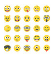 smiley flat icons pack vector image vector image