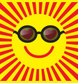 smiley icon in love and in the sunglasses vector image