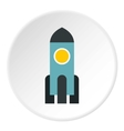 Space rocket icon flat style vector image vector image