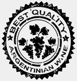 Stamp for Argentinian wine vector image vector image