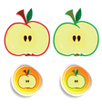 sticker apple color vector image