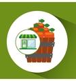 store fresh delicious orange bucket vector image vector image