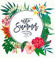summer natural vintage exotic greeting card vector image