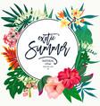 summer natural vintage exotic greeting card vector image vector image