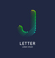 the letter j latin alphabet display vector image vector image