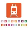 The train icon Metro and tram railroad symbol vector image