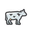 white spotted cow icon cartoon vector image