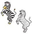 zebra coloring book vector image vector image