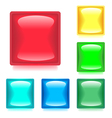 Set with Six Glossy Color Web Buttons vector image