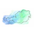 Austria watercolor map vector image
