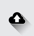 Cloud upload application web icon vector image