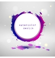 Watercolor design circle template vector image