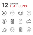 12 satisfaction icons vector image vector image