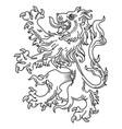 a medieval heraldic coat arms heraldic lion vector image