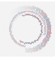 Abstract circle halftone vector image vector image
