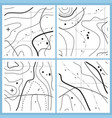 abstract map pattern with wavy lines vector image vector image