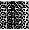Abstract seamless pattern black white mosaic vector image vector image