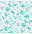 alternative medicine seamless pattern vector image vector image