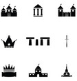 archeology icon set vector image vector image