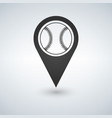 baseball marker path pin vector image