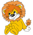 beautiful picture of a lion cub cartoon vector image