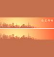 bern beautiful skyline scenery banner vector image vector image