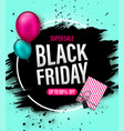 black friday sale discount banner with gift boxes vector image vector image