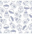 bottle pattern vector image vector image