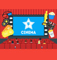 cartoon cinema concept interior vector image vector image