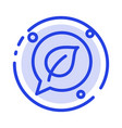 chat green leaf save blue dotted line line icon vector image