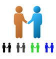 children handshake flat gradient icon vector image vector image