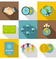 citizenship icons set flat style vector image vector image