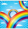 colorful rainbow vector image vector image