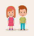 couple of little kids characters vector image vector image