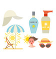 cream sunscreen bottle icon sunblock vector image vector image