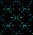 cute abstract bow tie seamless pattern on black vector image