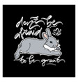 cute card with lying rabbit vector image vector image