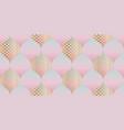 elegant geometric pastel color seamless pattern vector image