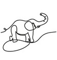 Elephant stands with one line