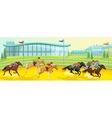 equestrian sport cartoon template vector image vector image